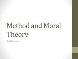 Method and Moral Theory by D Jamieson