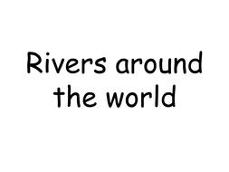 Rivers around the world