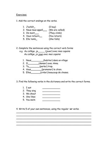 All Worksheets » Er Ir Re Verbs Worksheets - Printable Worksheets ...