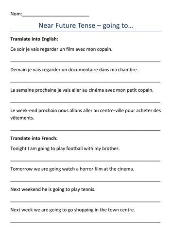 Future Tense Practice In Spanish Green Communities Canada