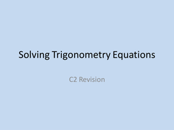 Solving Trig Equations by nnyang - Teaching Resources - Tes