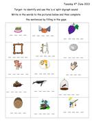 Split Digraph a-e Phonic worksheet & presentation