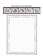 Design a stamp in the style of Quentin Blake.docx