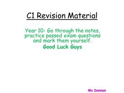 OCR Gateway Chemistry C1 Revision ppt