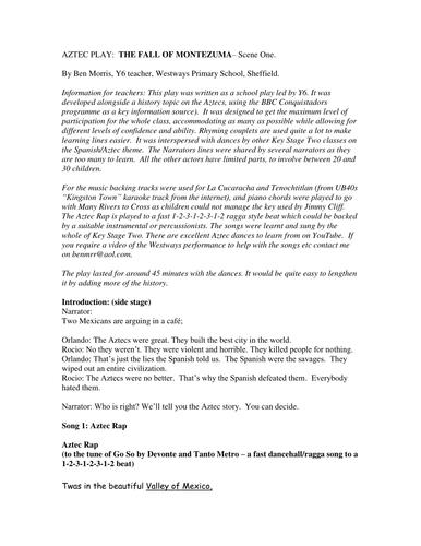 Aztec Homework Worksheet