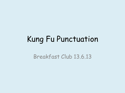 Kung Fu Punctuation