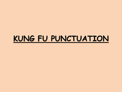 KUNG FU PUNCTUATION 2.pptx