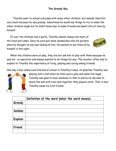 Phonic Comprehension Worksheets KS1 (Yr 2) by PandaPop25 ...