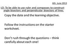 Constructions of bisectors - Year 8.pptx
