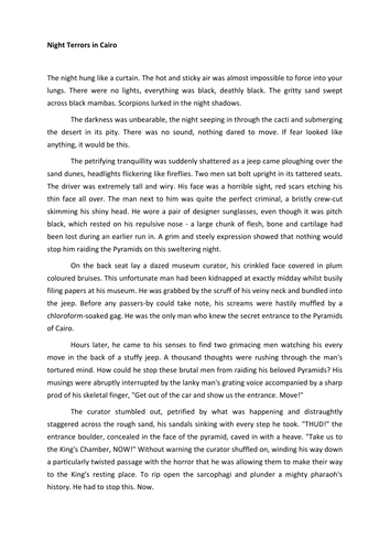 Is my short story english coursework any good?
