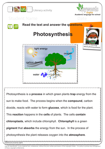 literacy pack for photosynthesis app worksheets by keywordsenglish teaching resources tes. Black Bedroom Furniture Sets. Home Design Ideas