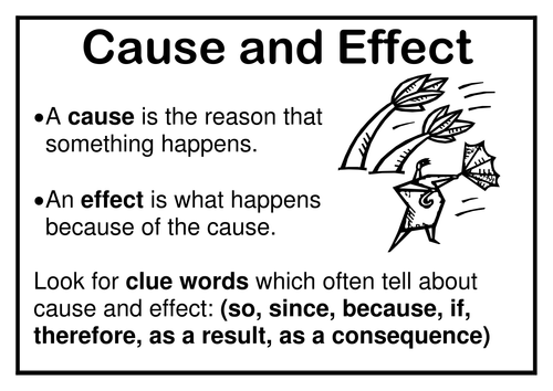 2nd Grade Cause Effect Examples – Wonderful Image Gallery