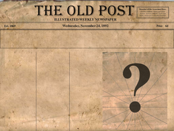 newspaper template to print.ppt