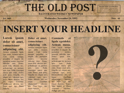 newspaper template.ppt