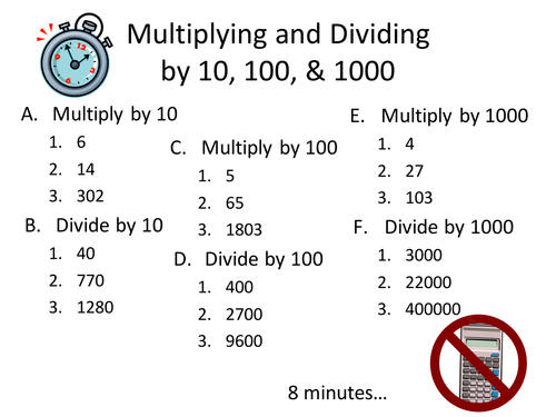 Number Names Worksheets multiply and divide by 10 and 100 – Multiplication by 10 100 and 1000 Worksheets