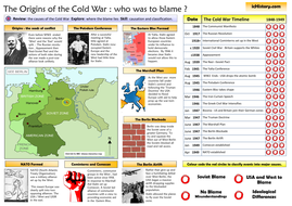 cold war blame origins chart summary by ichistory teaching resources tes. Black Bedroom Furniture Sets. Home Design Ideas