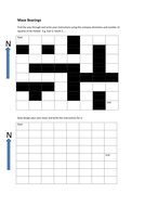 Maze Bearings: KS2 / KS3 maths direction activity