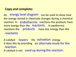 C3 Aqa Energy Calculation 34 Bond Energies By Neeny468 Teaching