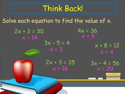 Simultaneous equations lesson