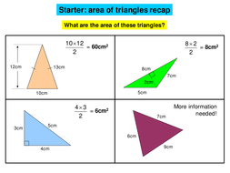 triangle area investigation by danwalker teaching resources tes
