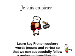 Cooking transitional activity: French vocabulary