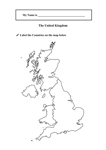 Outline of the United Kingdom by sophialouisechivers