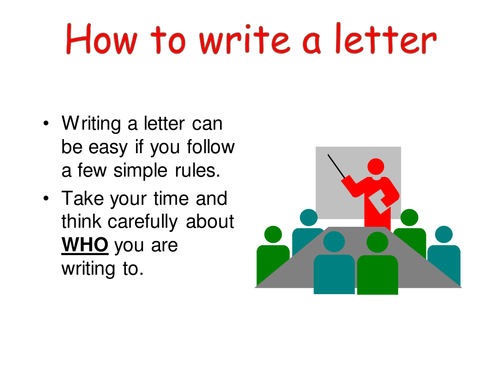 Writing a letter of application ks2