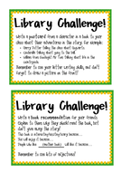 Library Challenge Cards