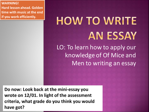 English essay writing resources?
