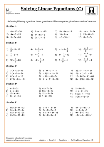 Solving Linear Equations by CazoomMaths - Teaching Resources - TES