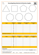 Geometry. Level 7. Polygons. Investigating interior and exterior angles.pdf