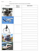 compare past and present transport