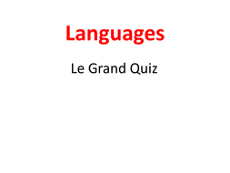 Languages Quiz: Europe and France
