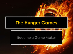 Become A Game Maker Hunger Games Lesson