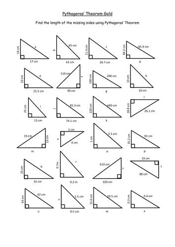 Pythagoras Basic Continued KS3 by TeachByNumbers