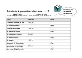 Los horarios: Spanish Timetable resource by rafacanet - Teaching ...