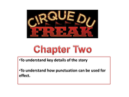 Cirque Du Freak - lesson 3.ppt