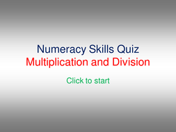Multiplication and Division Quiz by sally.milton | Teaching Resources