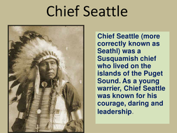 Chief Seattle Letter Native American Ppt Youtube Teaching Resources