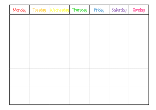 Editable Calendar for Classroom display by jacksos2