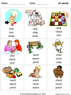 ch phonics worksheet (circle the correct word to go with an image).ppt