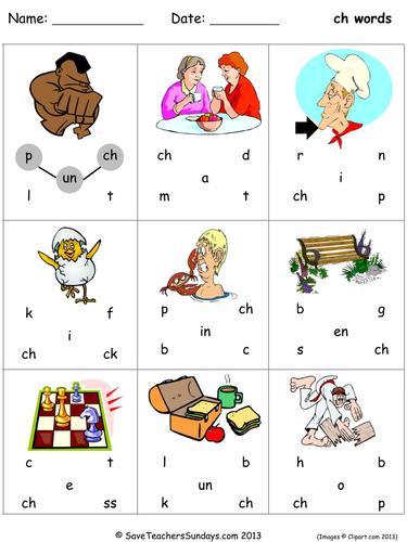 ch phonics worksheets by SaveTeachersSundays - Teaching Resources ...