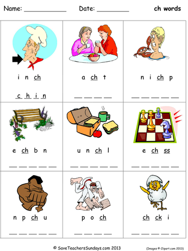Ch Phonics Worksheets Teaching Resources