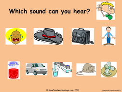 Year 1 Spellings Aut001a CVC (CaC) powerpoint - images with words and dictation sentences.ppt