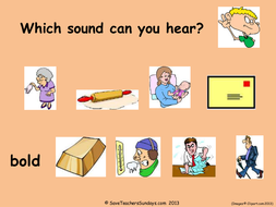 Year 2 Spellings Aut001 Long (o) as –old, -ost and -oll powerpoint - images with words and dictation sentences.ppt