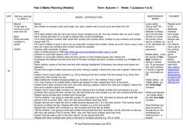 Year 2 Maths Planning (Weekly) - Week 1.doc