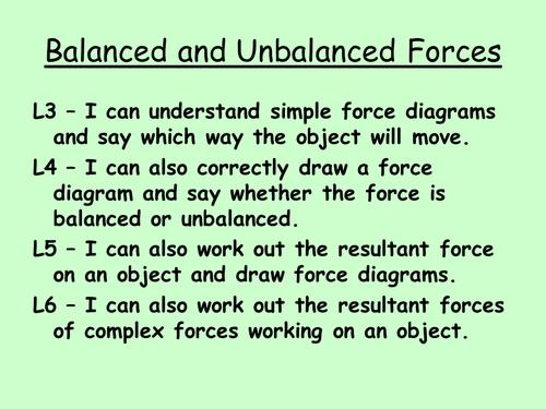 Forces Yr 7 Less.4 - Balanced & Unbalanced forces by heelis ...