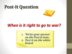 Religion, Peace & Justice - Attitudes to war.ppt