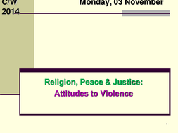 Religion, Peace & Justice: Attitudes to violence