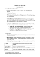 Belief about Deity: Revision Sheet 2